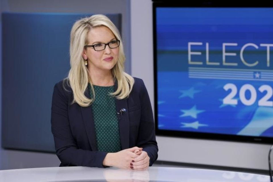 Photo -  U.S. Sen. candidate Abby Broyles at The Okahoman studio Wednesday, October 14, 2020. [Doug Hoke/The Oklahoman]