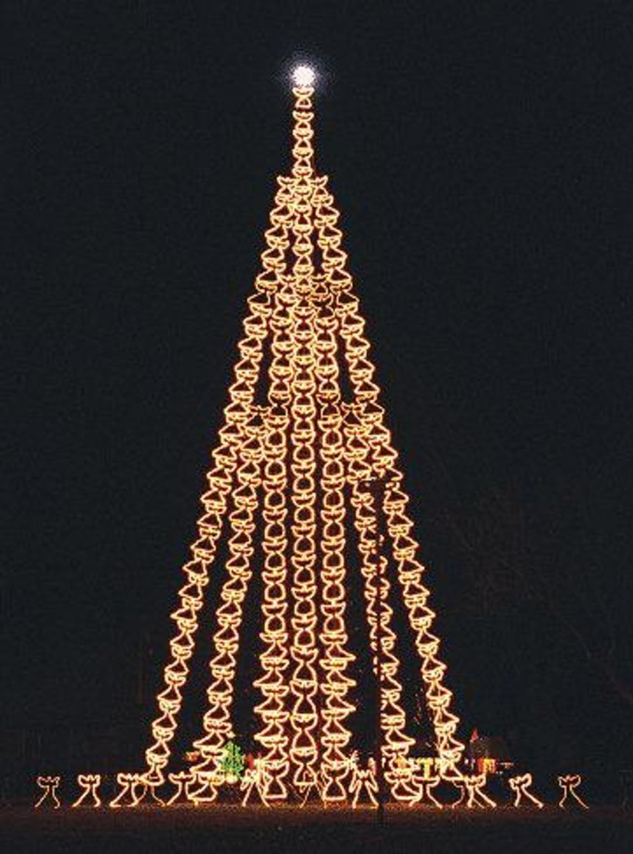 Photo - This stairway Christmas tree is part of Kingfisher in Lights. Photo provided.