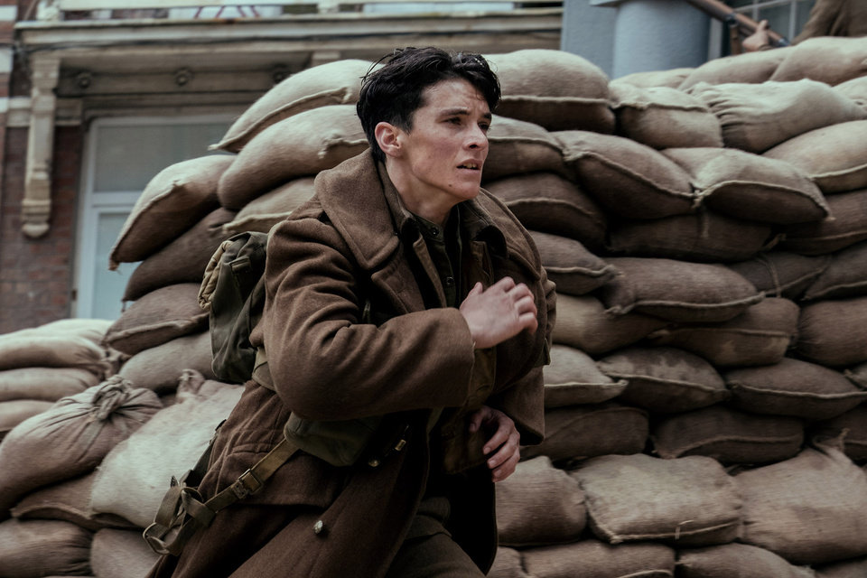 "Photo - The viewpoint of British soldier Tommy (Fionn Whitehead) is one of the narratives explored in the movie ""Dunkirk."" MUST CREDIT: Melinda Sue Gordon - Warner Bros. Pictures."
