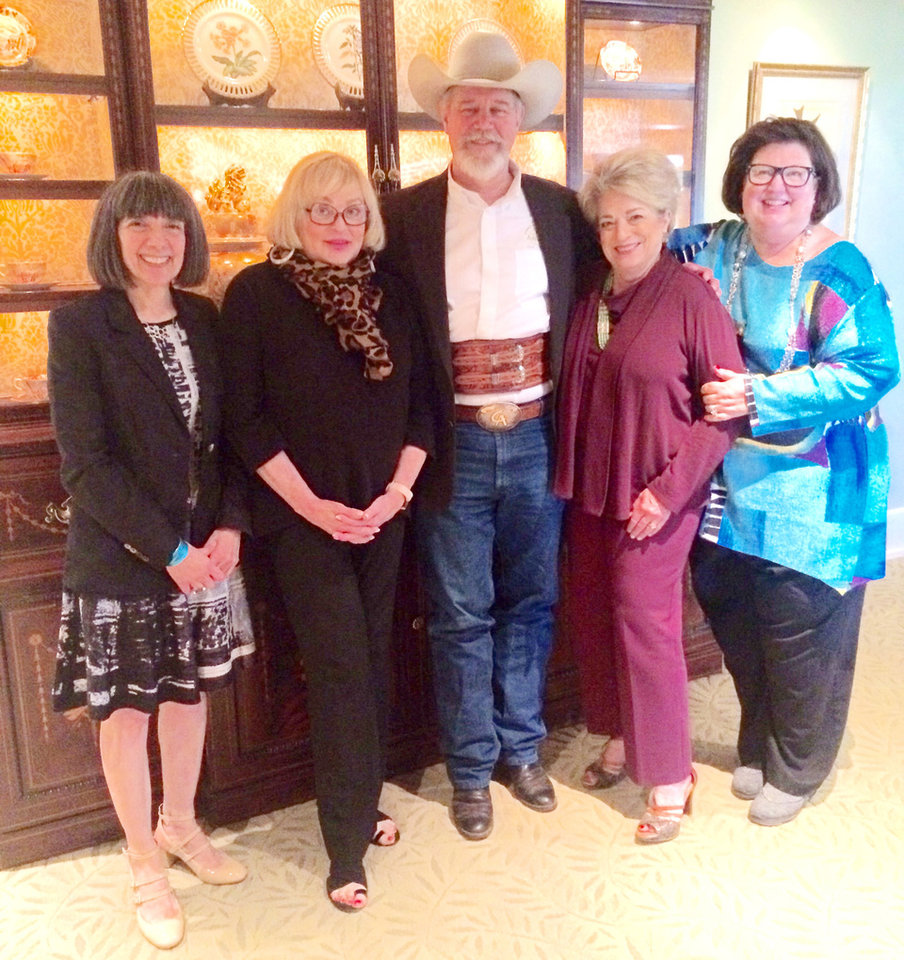 Photo - Dr. Bette Talvacchia, Dr. Joy Reed Belt, Professor Paul Moore, Sue Ann Hyde, Sody Clements. PHOTO PROVIDED