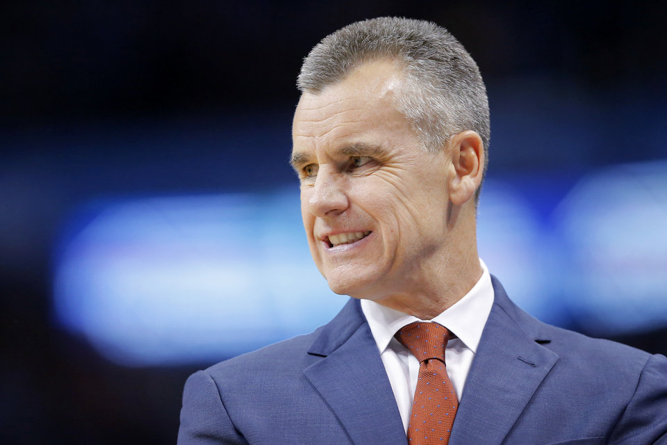 Photo - Oklahoma City coach Billy Donovan during an NBA basketball game between the Oklahoma City Thunder and the Sacramento Kings at Chesapeake Energy Arena in Oklahoma City, Sunday, Oct. 21, 2018. Photo by Bryan Terry, The Oklahoman