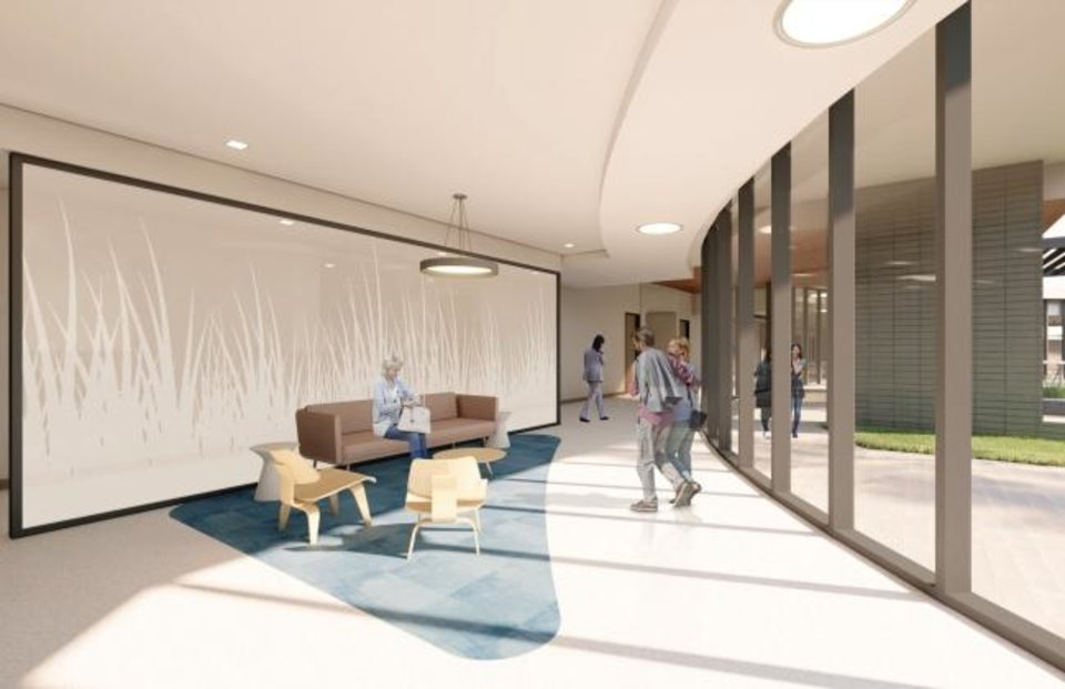 Photo -  A visitors lounge is shown at the future Chad Richison Hope Lodge. [MILES ASSOCIATES]