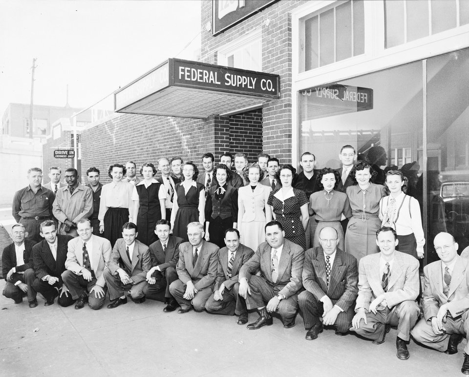 Photo -  The staff of Federal Corporation, then known as Federal Supply, gathered for this photo in the 1940s. [Photo provided by Federal Corporation]