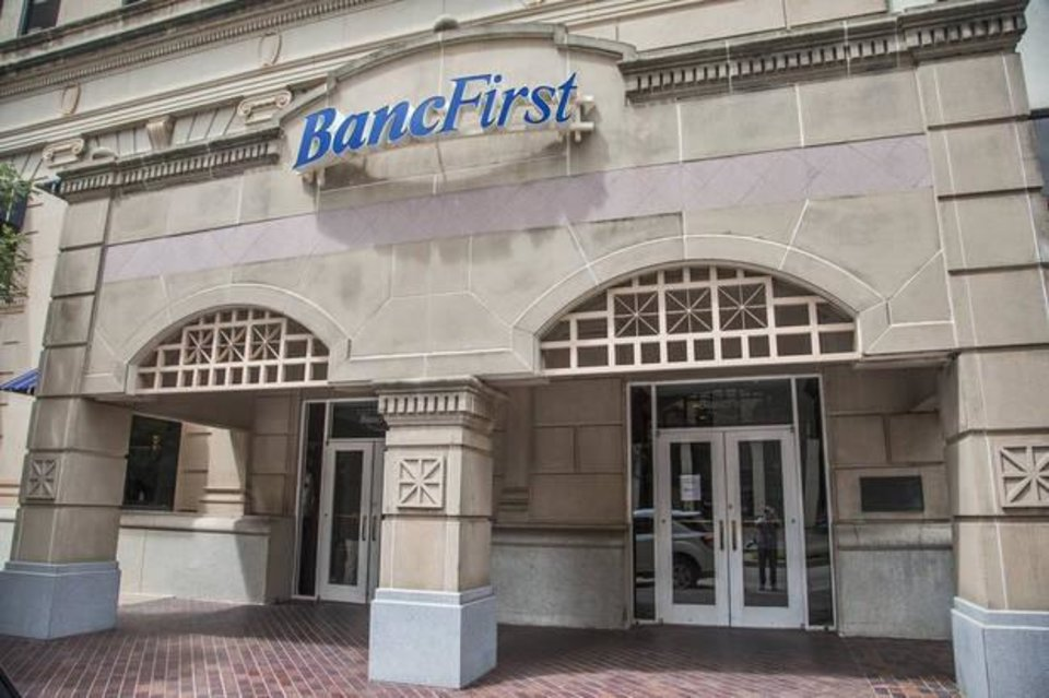 Photo - The BancFirst building located at 101 N. Broadway in downtown Oklahoma City, Okla. on Monday, Aug. 14, 2017. Jerry Drake Varnell, 23, of Sayre, was arrested Saturday in connection with what authorities says is a foiled plot to blow up the bank building in Downtown Oklahoma City with a truck filled with fake explosives. Photo by Chris Landsberger, The Oklahoman | Imported: Mon. Aug 14, 2017 at 12:40pm Photographer: CHRIS LANDSBERGER
