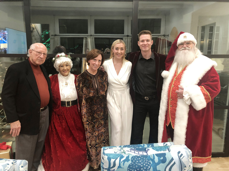 Photo - Gene Rainbolt, Mrs. Santa Claus, Leslie Rainbolt-Forbes, Katherine Rainbolt, Clark Ennis, Santa Claus. PHOTO PROVIDED