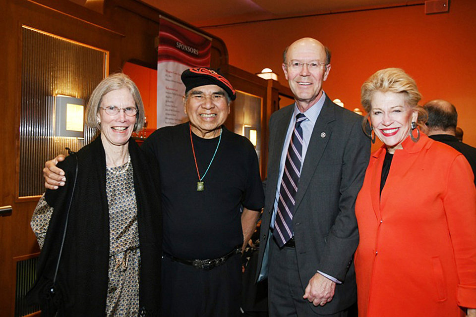 Photo - Nancy Anthony, Ben Harjo, Bob Anthony, Beth Hammack. FRAN KOZAKOWSKI PHOTO