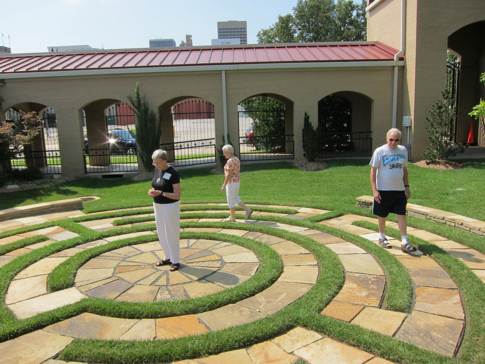 Walking A Sacred Path Labyrinth Enthusiasts Join For Gathering In Oklahoma City News Ok
