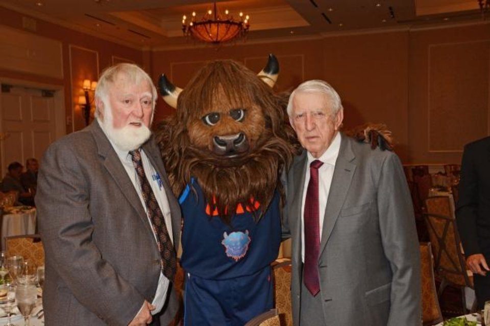Photo -  Bob and Herman Meinders with Rumble.