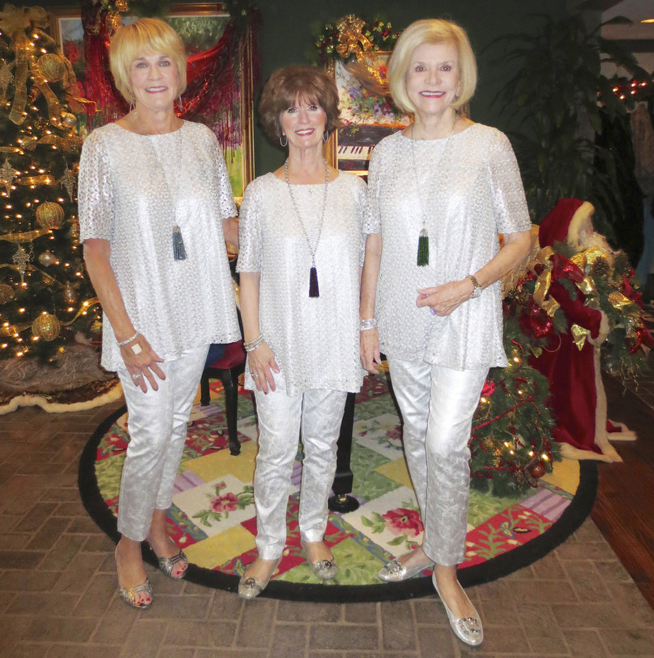 Photo - Susan Johnston, Barbara Brou, Judy Love. PHOTO BY HELEN FORD WALLACE, THE OKLAHOMAN