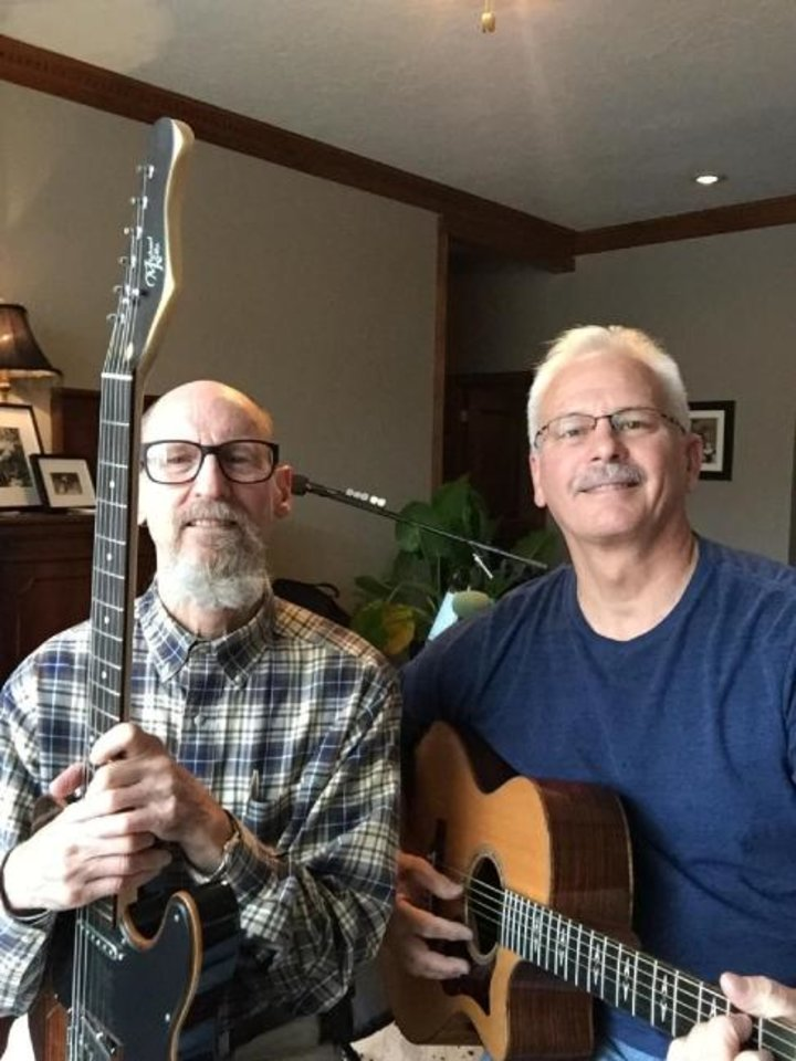 Photo -  Dave Martin and Don Pearson will bring rock, folk and pop music to the grounds of the Arcadia Round Barn from 10:30 a.m. to noon Friday. [PHOTO PROVIDED]