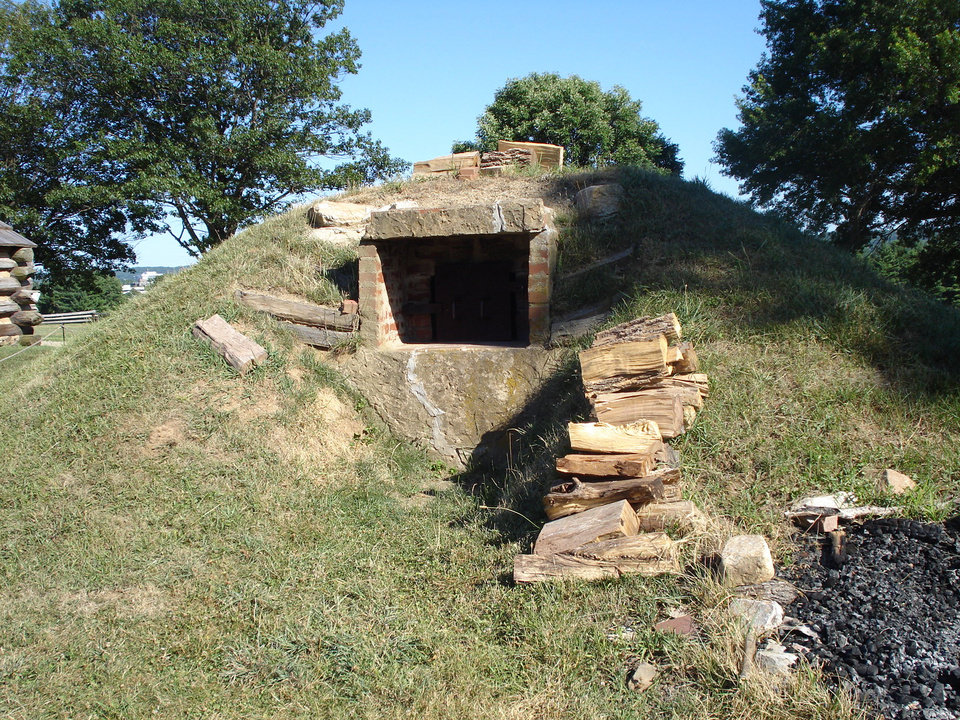 An Original Storage Bunker, Probably For Munitions, At Valley Forge. [Photo  By Beth Stephenson, For The Oklahoman] ...