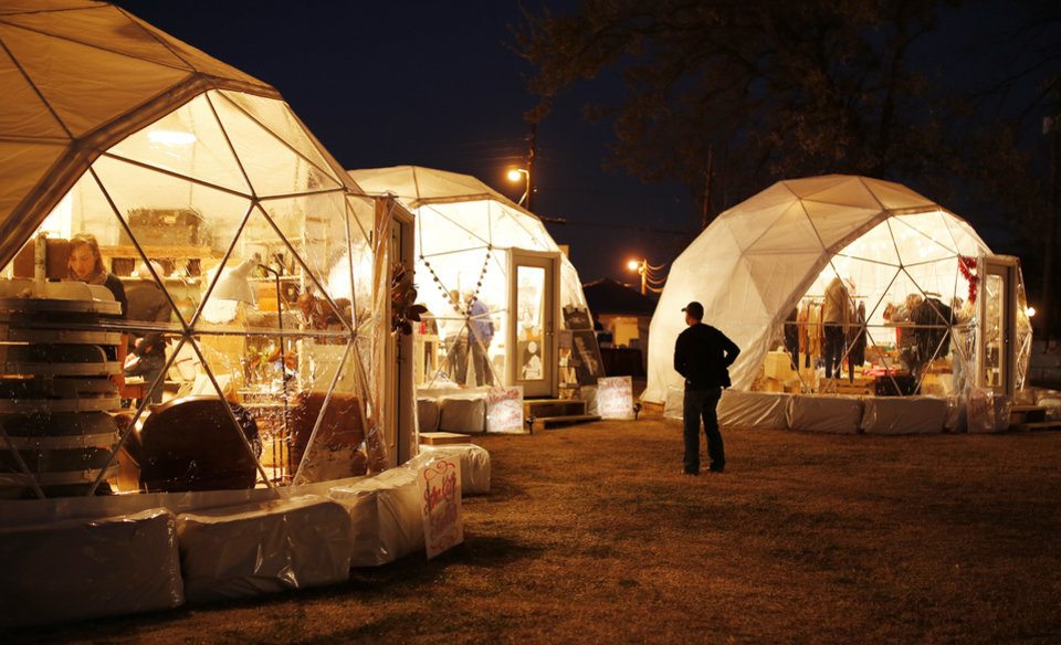 Photo - Holiday Pop-Up Shops in Midtown.  Photo by Doug Hoke, The Oklahoman  DOUG HOKE - THE OKLAHOMAN