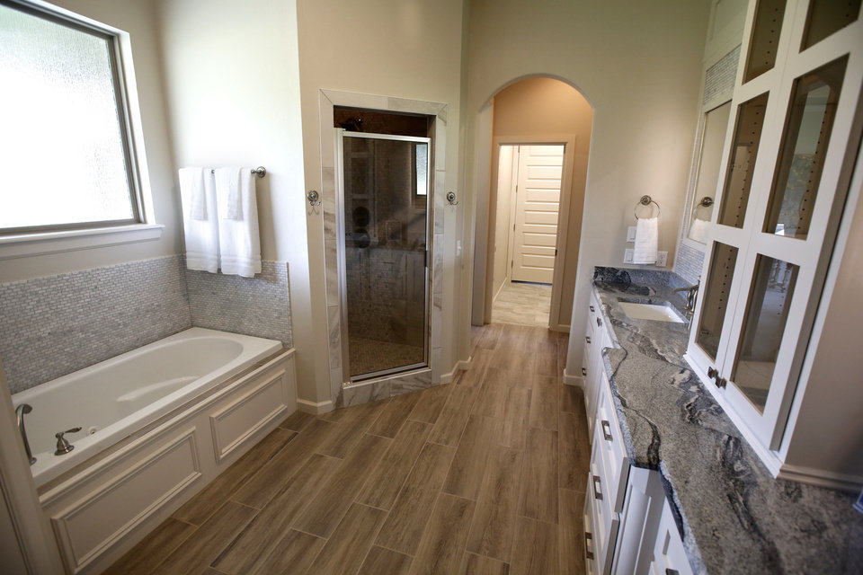 Nice This is the master bathroom of the St Jude Dream Home Ridge Creek Road in Edmond Photo By Steve Gooch The Oklahoman
