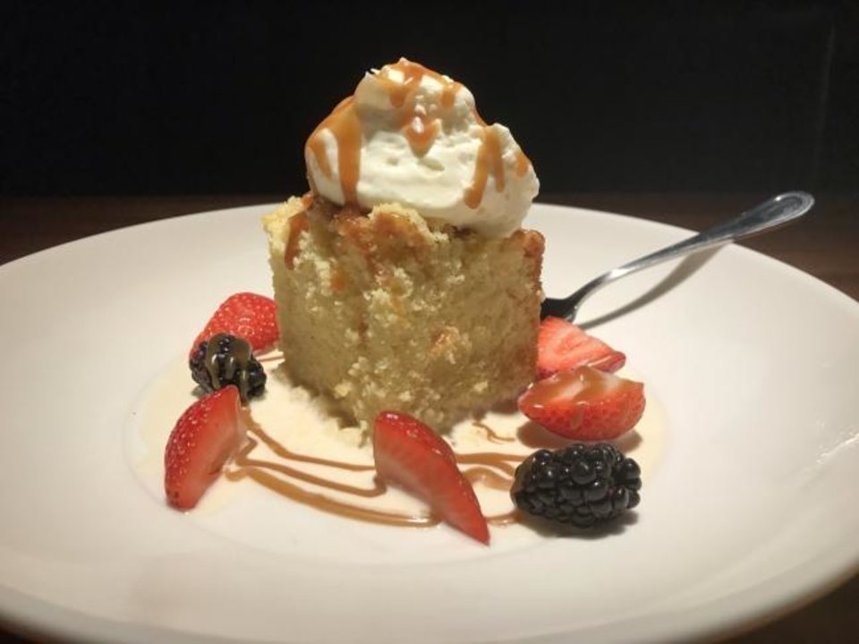 Photo -  Tres Leches Cake from Jimmy B's Culinary and Hand-Krafted in Automobile Alley. [Dave Cathey/The Oklahoman]