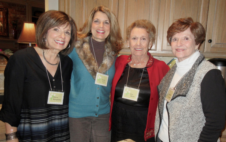 Photo - Sharon Bumgardner, Diane Busby, Vicki Wilcox, Cathie Harris. PHOTO BY HELEN FORD WALLACE, THE OKLAHOMAN