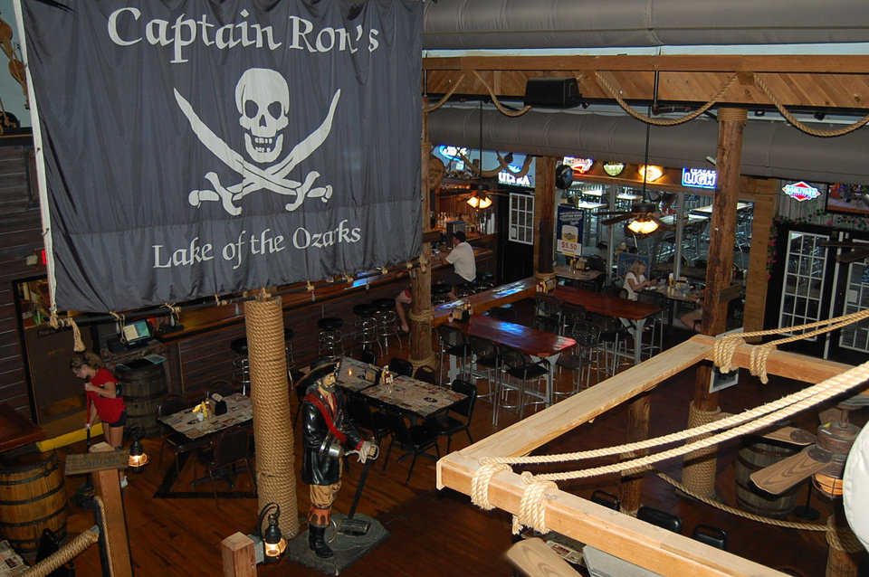 Photo -  The interior of Captain Ron's in Sunrise Beach, Missouri.  [Photo by Annette Price]