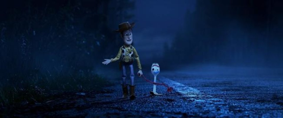 Photo -  Tom Hanks reprises his role as Woody, and Tony Hale gives voice to Forky in