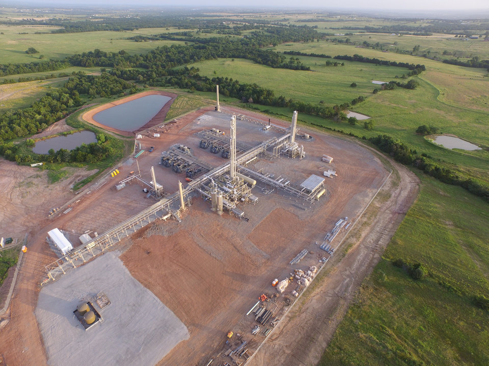 Photo -  Tall Oak Midstream III has begun work on a natural gas processing facility in Hughes County. The plant will be similar to Tall Oak's Battle Ridge natural gas processing facility, shown here, near Cushing. [Photo provided]