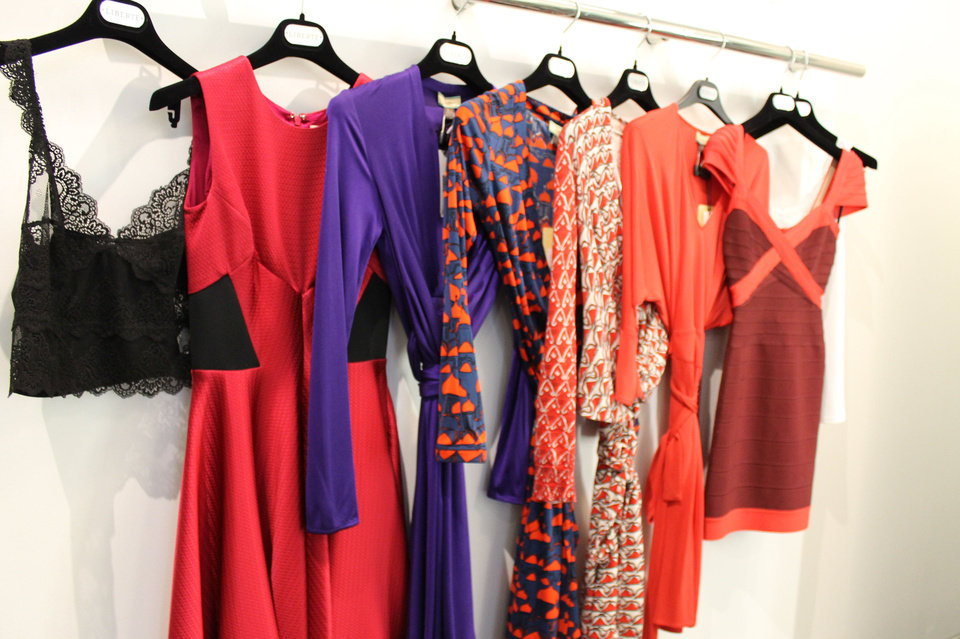 Photo - These are some of the dresses Angela Schnabel tried on at Liberte before settling on the outfit she chose for her Mood