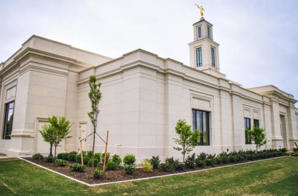 Photo -  The new Oklahoma City temple for The Church of Jesus Christ of Latter-Day Saints in Oklahoma City, Okla. on Monday, April 22, 2019.   Photo by Chris Landsberger, The Oklahoman
