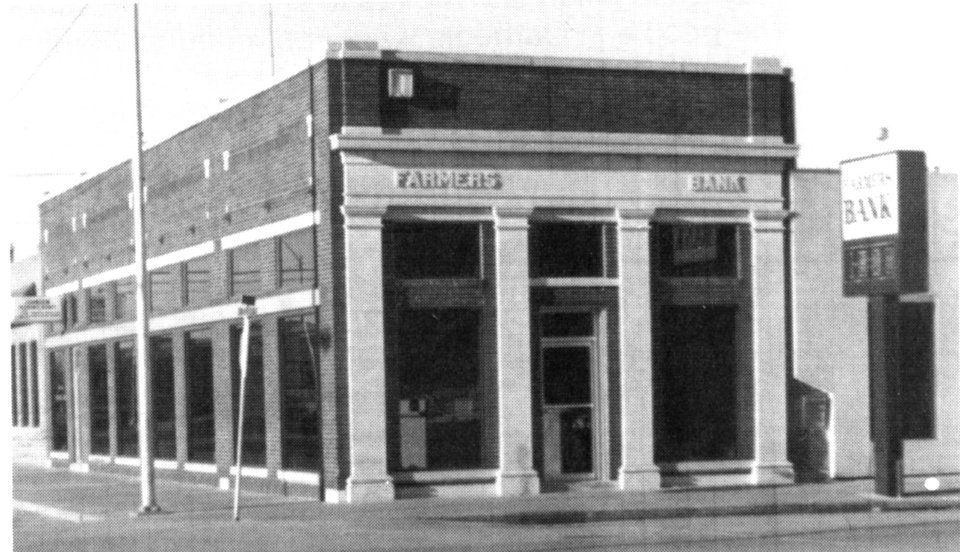 Photo -  The original Farmers Bank in Carnegie was built in 1905 but was replaced with a new building after the original was destroyed in a fire. [Photo provided]