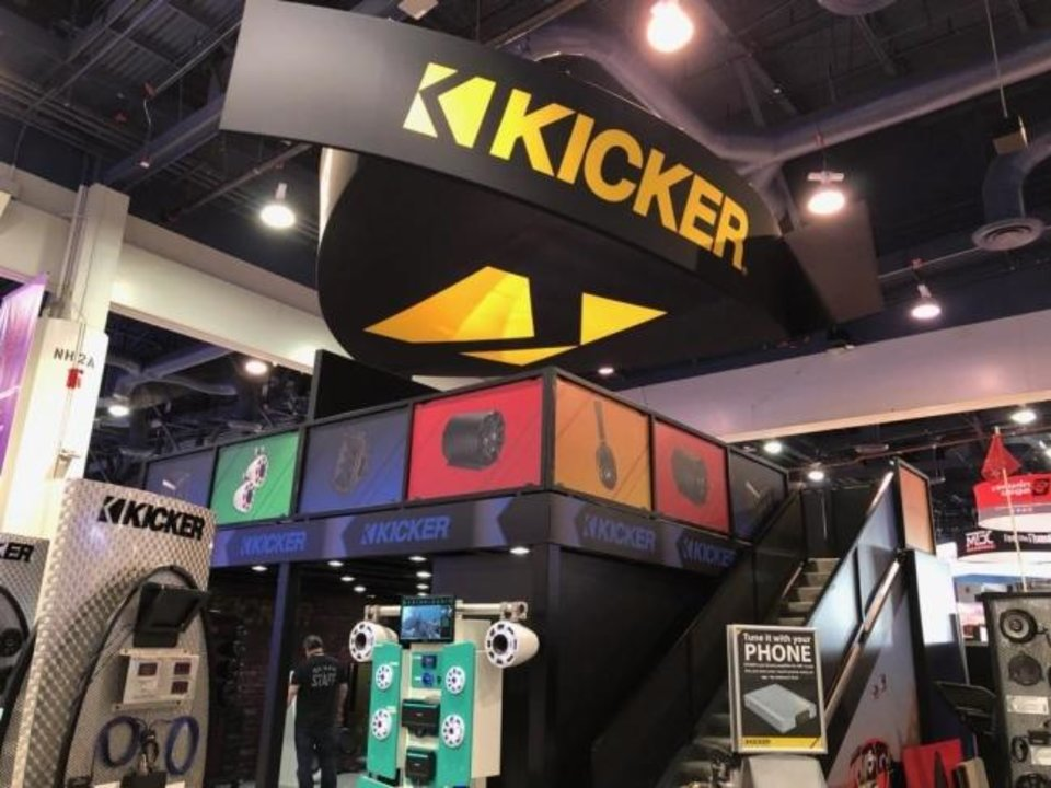 Photo -  Stillwater-based Kicker has a booth again this year at the Consumer Electronics Show in Las Vegas, the largest tech industry trade show in the world. [PHOTO PROVIDED]