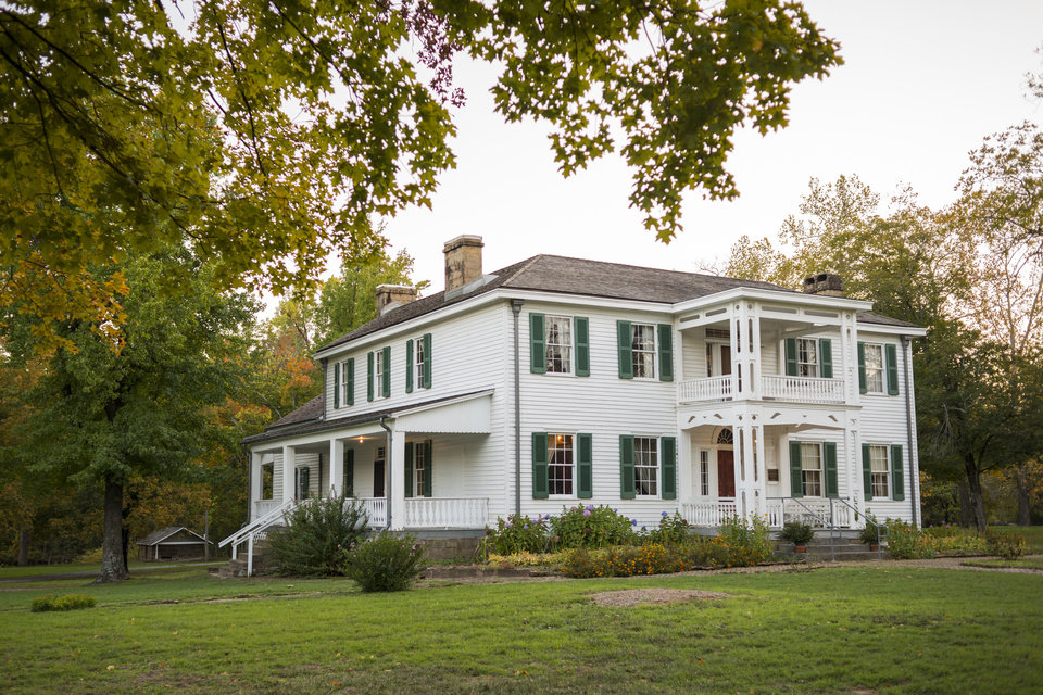 The George M Murrell House Is In Park Hill Four Miles South Of Tahlequah