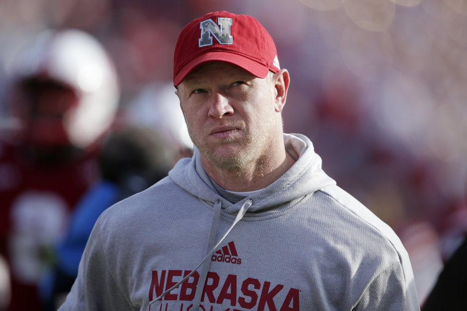 Photo -  Nebraska coach Scott Frost says the Cornhuskers should keep playing, even if the Big Ten cancels its season. [AP PHOTO]