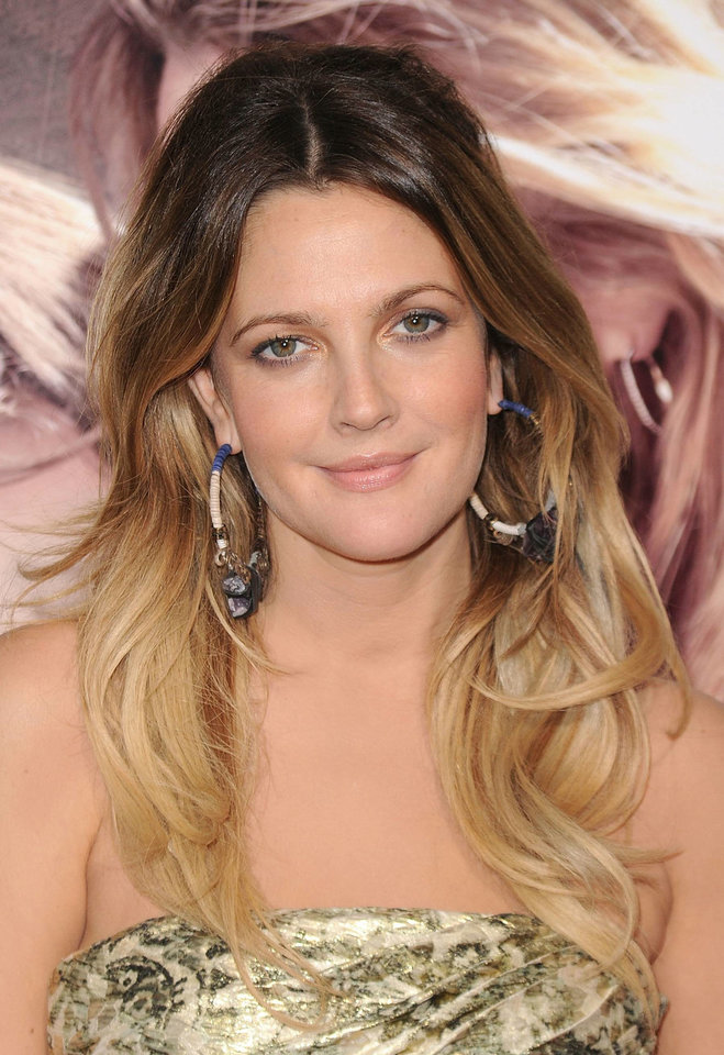 Photo - Drew Barrymore has rocked the ombre hair color trend for years. Here, her ombre is soft, with a more subtle color transition that some of her previous colors.  Jason Merritt