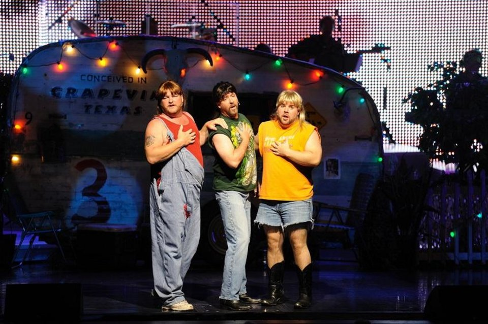 Photo - Classically trained vocalists Matthew Lord, Blake Davidson and Jonathan Frugé will appear as The 3 Redneck Tenors, a musical comedy trio, tonight at Oklahoma City Community College. [Photo provided]