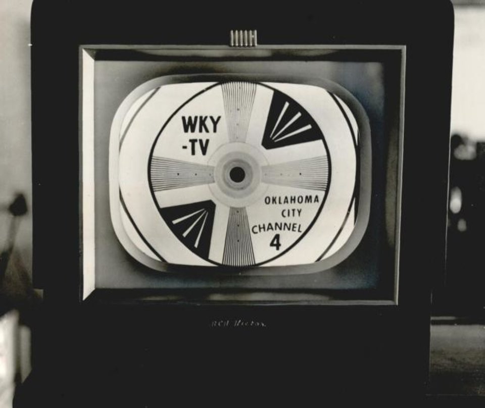 Photo -  WKY-TV ran test patterns in the weeks leading up to its June 6, 1949, debut. [OPUBCO Collection, 1949/Oklahoma Historial Society]