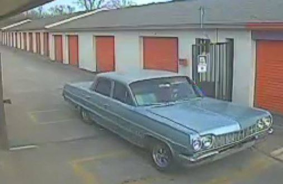Photo - A classic car was stolen from an Oklahoma City storage unit last month. [Photo provided by the Oklahoma City Police Department]