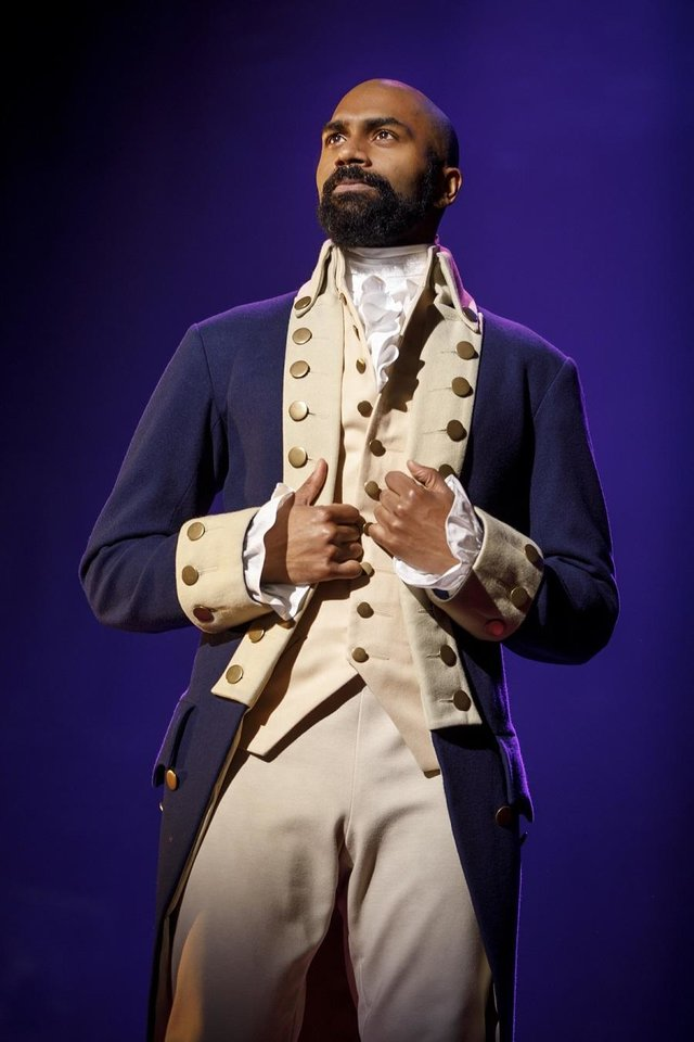Photo - Nik Walker portrays Aaron Burr in the national tour of