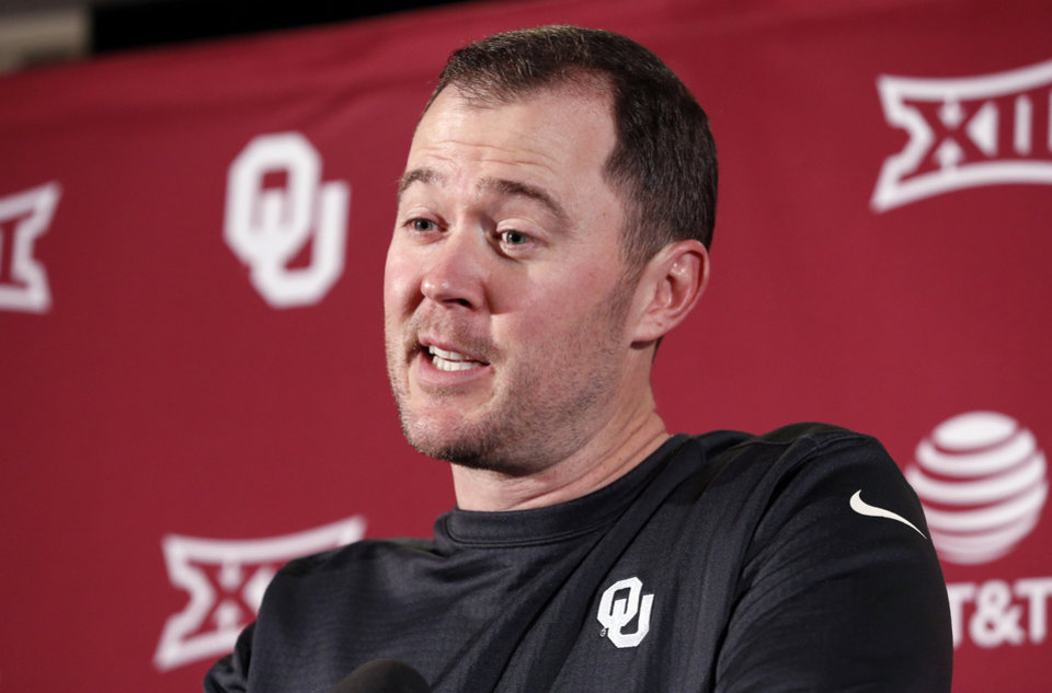 Photo -  Oklahoma coach Lincoln Riley said he isn't worried about Kyler Murray being picked by a Major League baseball team in the upcoming draft. Riley said he expects Murray, also an OU quarterback, to be with the football team when fall camp starts in August. [PHOTO BY STEVE SISNEY, THE OKLAHOMAN]