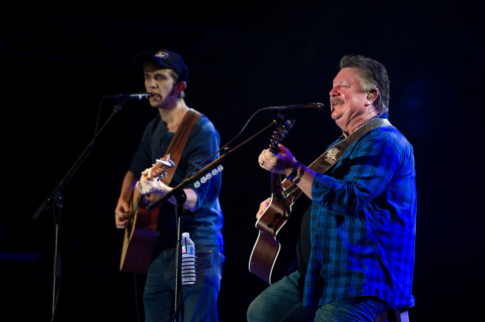 Photo - Country music star Jake Owen was joined by Joe Diffie, Chris Lane and Morgan Walden during the 12th annual Jake Owen Foundation Benefit Concert on Saturday, Dec. 8, 2018 in Vero Beach, Fla. [LEAH VOSS/USA Today Network]
