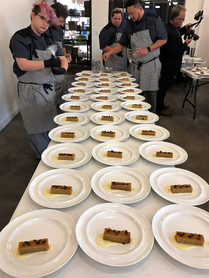 Photo - A behind the scenes look at part one of Odyssey de Culinaire. Part two is Thursday night at the Skirvin Hilton Hotel. [Dave Cathey/The Oklahoman]
