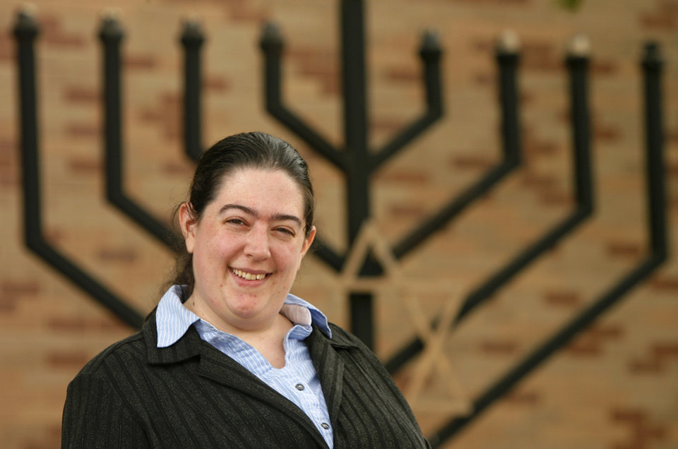Photo -  Rabbi Abby Jacobson, spiritual leader of Emanuel Synagogue [Photo by Jim Beckel]
