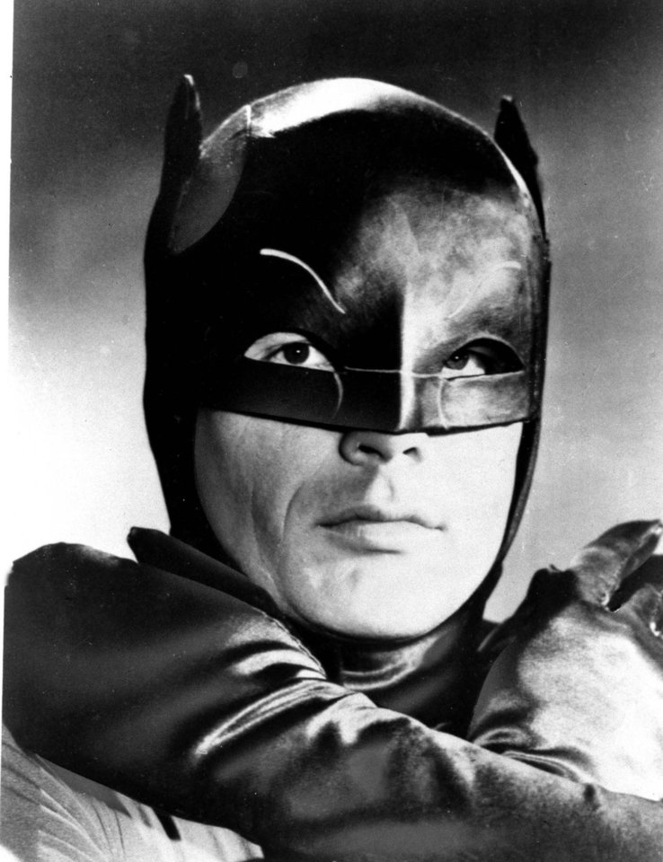 Photo - Actor Adam West, shown in costume on January 23, 1966, stars as the Caped Crusader battling the forces of evil on the new