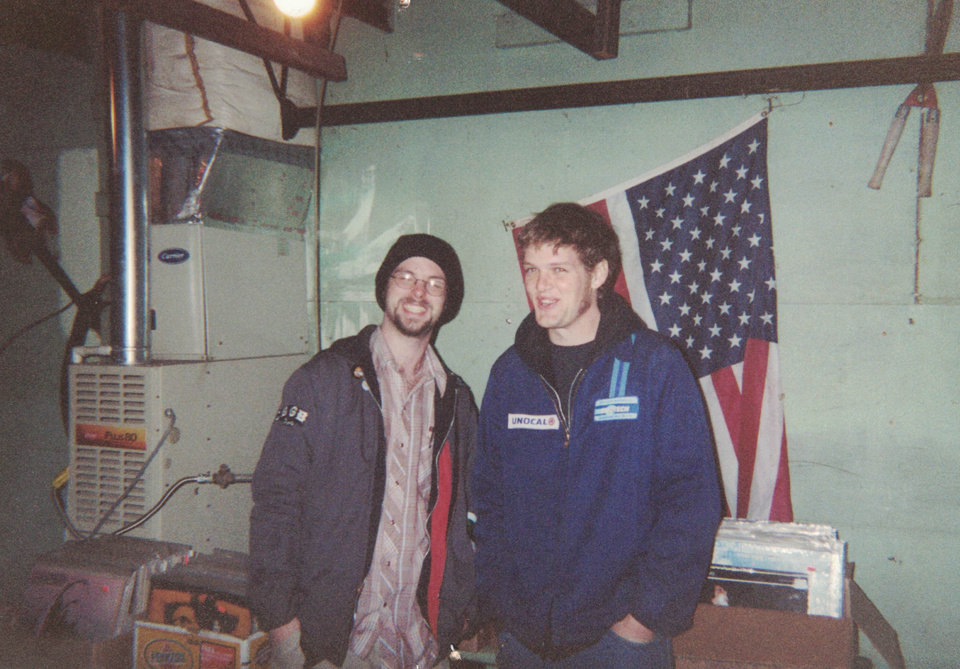 Photo -  Owners Travis Searle and Justin Sowers in the back room of Guestroom's original location in 2003. [photo provided]