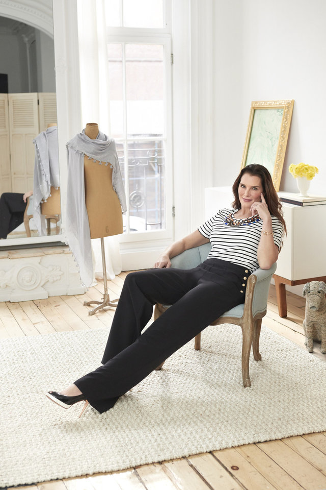 Photo - Brooke Shields has created a fashion collection for QVC.  (PRNewsfoto/QVC, Inc.)