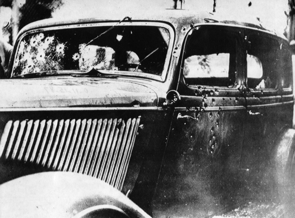 Photo - The couple met their fate in 1934 in this automobile when they were ambushed by lawmen near Arcadia, La
