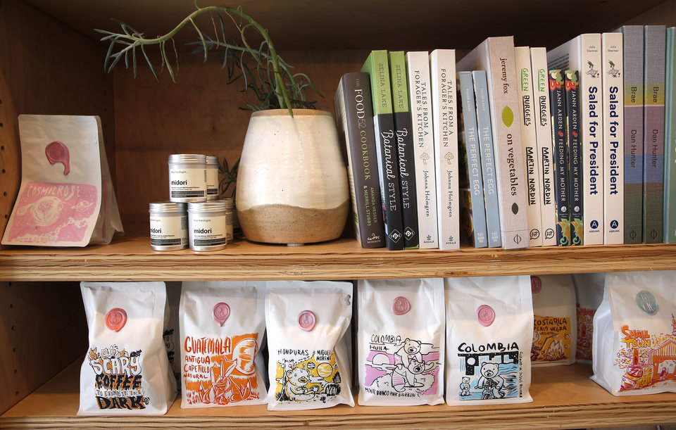 Photo -  Gift items from The Kitchen at Commonplace Books in Oklahoma City. [Photo by Sarah Phipps, The Oklahoman]