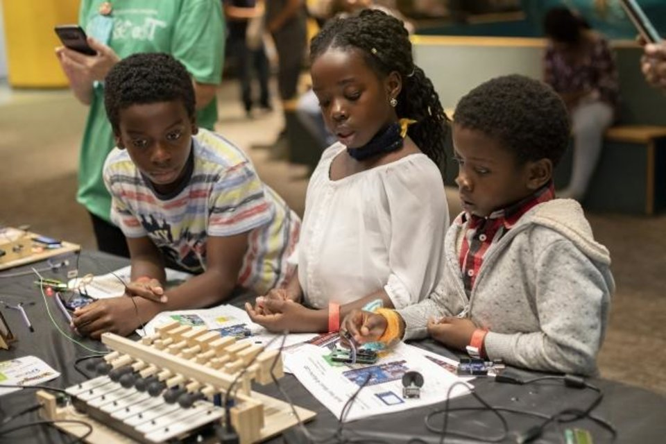 Photo -  Science Museum Oklahoma guests create music using technology during the 2018 Tinkerfest. [PHOTO PROVIDED]