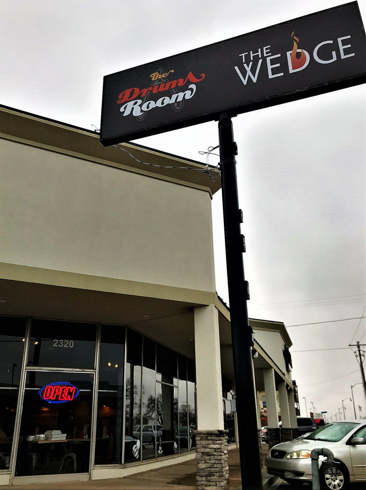 Photo -  The Drum Room Wedge opened in Midwest City just before the end of 2018. [Photo by Dave Cathey, The Oklahoman]