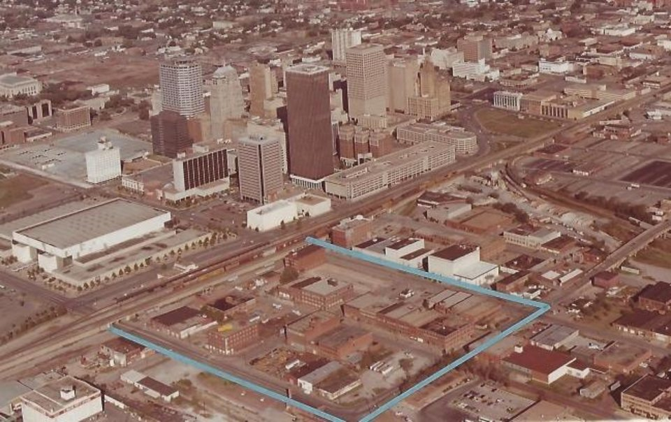 Photo -  This 1981 aerial photo from Horton's Warehouse Development Co. shows the area Neal Horton outlined for his initial development efforts to create a