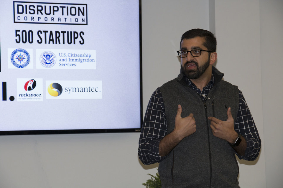 Photo -  Paul Singh speaks about entrepreneurial efforts at a recent event in Stillwater. Singh will be a featured speaker on the North American Tech Tour making stops in Oklahoma City and Norman April 25-27.