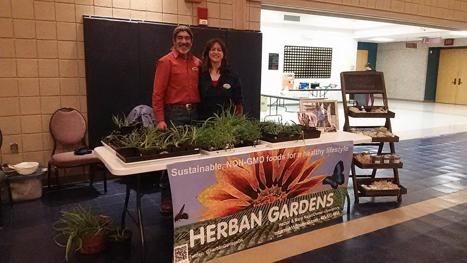 Photo -  Hector and Mary Najar, of Herban Mother, established their customer base, starting with organic skin products, over the past two years at the Oklahoma City Farmers Market. [PHOTO PROVIDED]