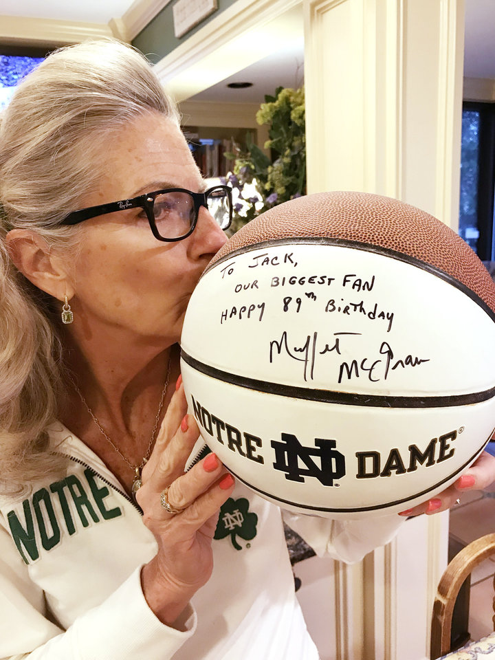 Photo - Marnie Taylor and her prized basketball. PHOTO PROVIDED