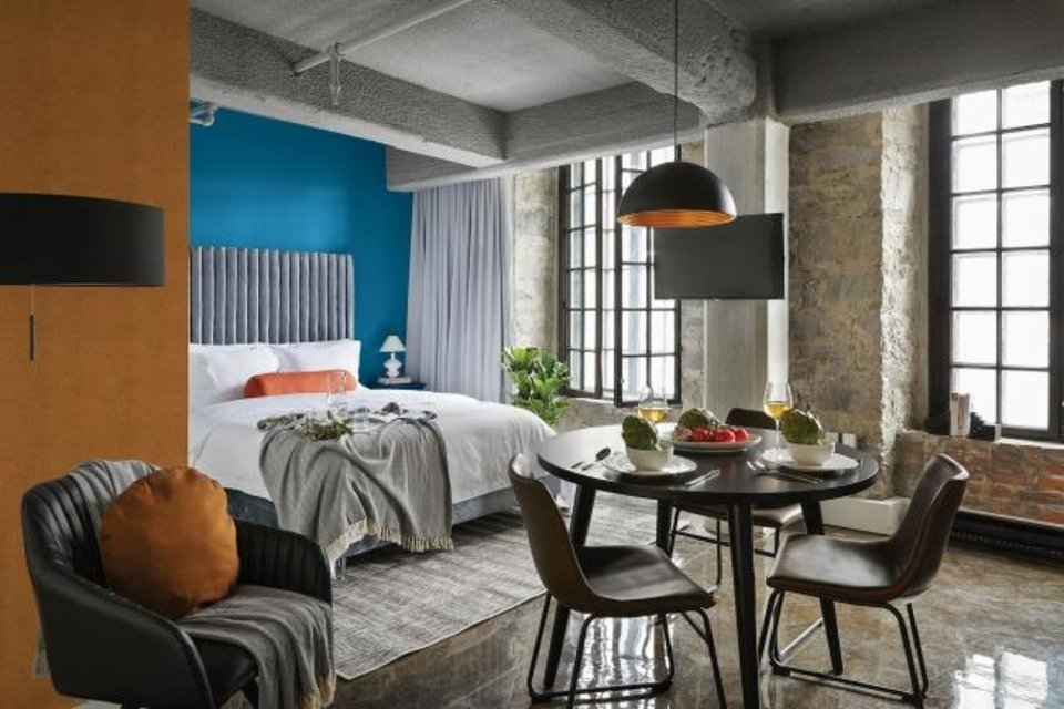 "Photo -  ""Chinese Porcelain,"" the color featured on this room's bed wall, is PPG's 2020 Color of the Year. [PHOTO PROVIDED BY PAINTZEN]"