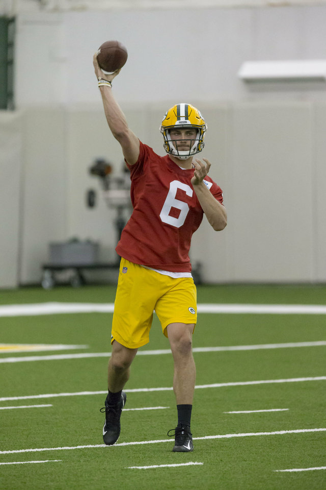 Photo - Green Bay Packers Taylor Cornelius during Packers NFL football rookie orientation camp Friday May 3, 2019 in Green Bay, Wis.. (AP Photo/Mike Roemer)